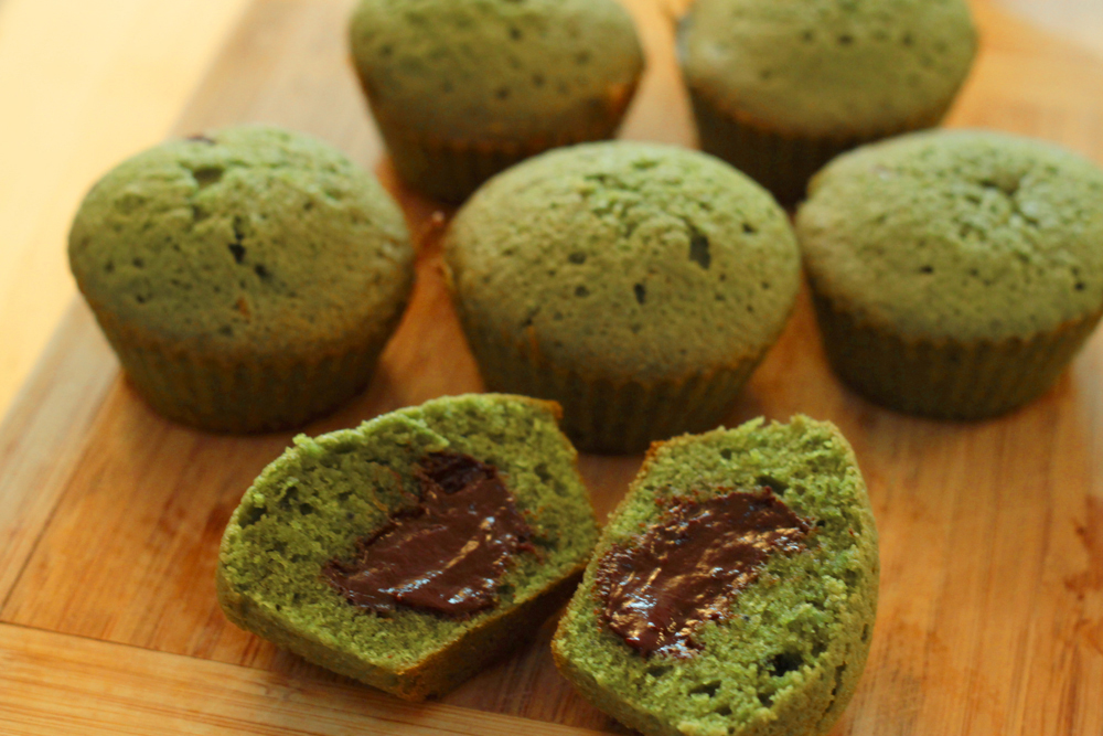 muffins-thé-vert-matcha-chocolat