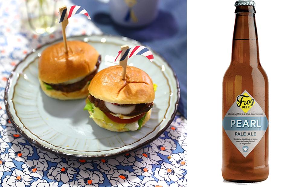 bière pearl frogbeer burger