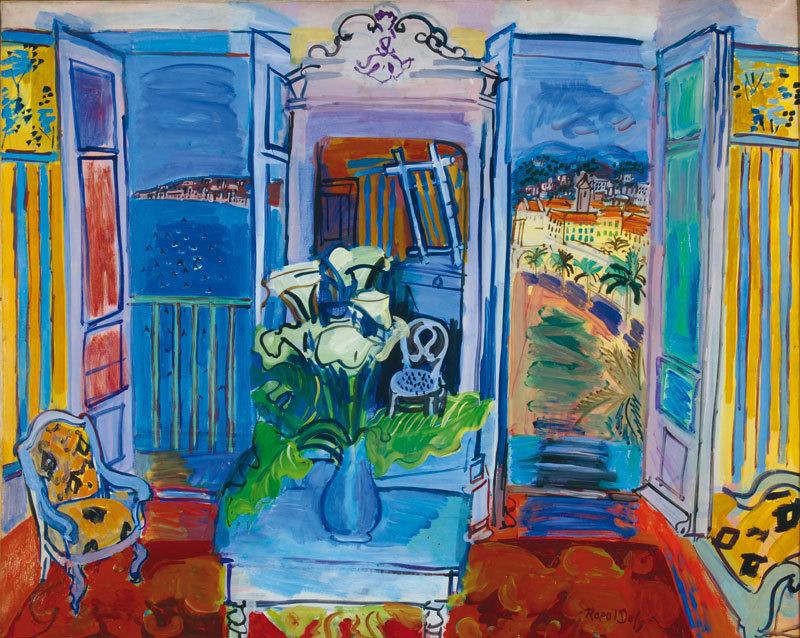 © Raoul Dufy, Interieur à la fenêtre ouverte