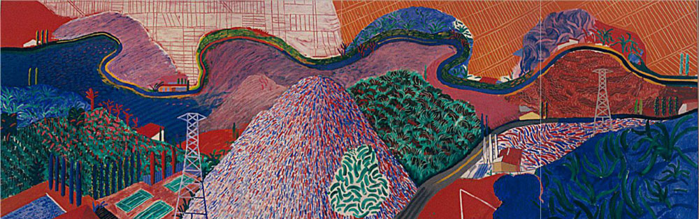 © David Hockney, Mulholland Drive, The Road to the Studio
