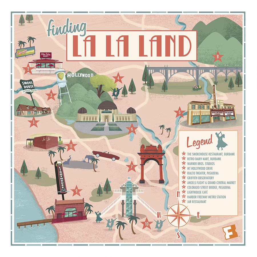 © Brian Miller, La la land Map