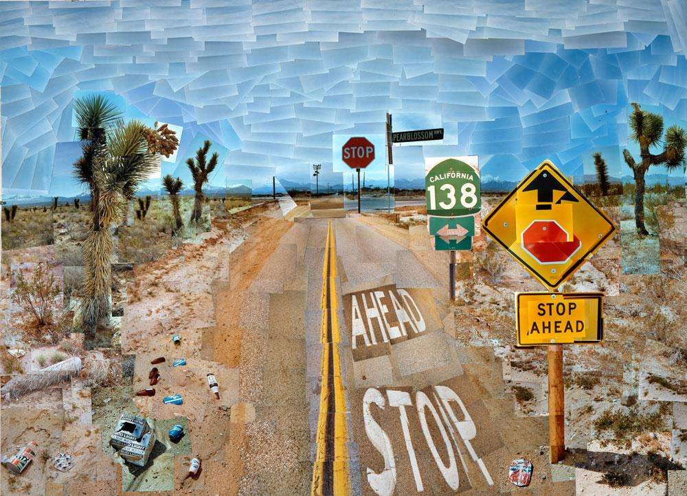 © David Hockney, Pearblossom Highway